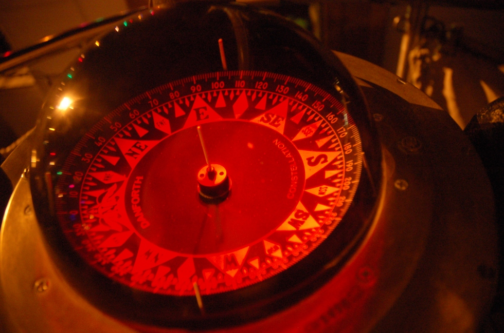 Ship's Compass at Night