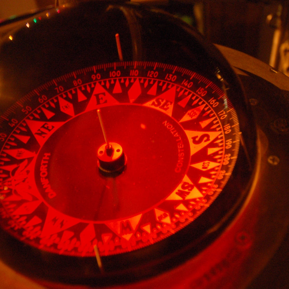 Ship's Compass at Night