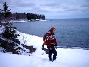 Katie Hikes Lake Superior