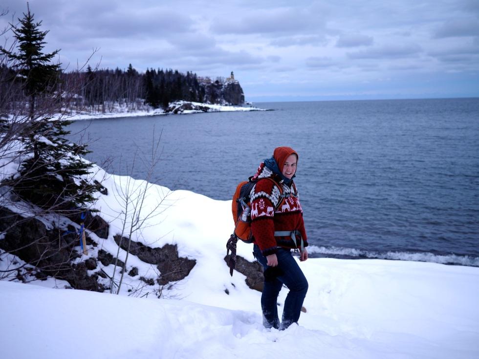 Katie Hikes Lake Superior